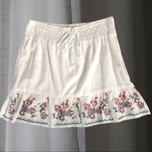 Speechless embroidered white cotton skirt w/lining